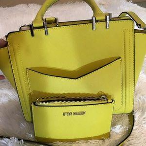Steve Madden Lime green handbag with coin purse